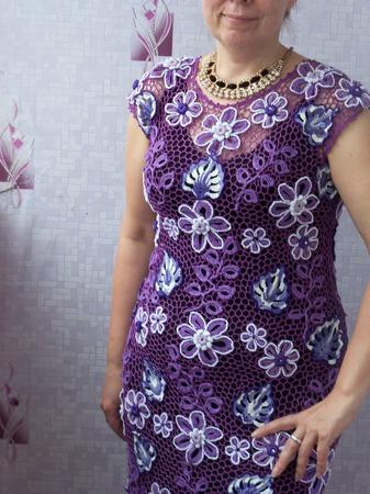 """Платье """"Сирень"""" ручной работы на заказ"""
