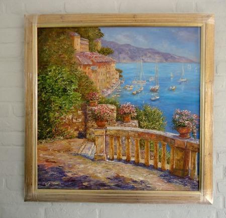 Картина маслом Средиземноморье ручной работы на заказ
