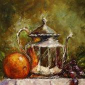Картина маслом Апельсин и виноград