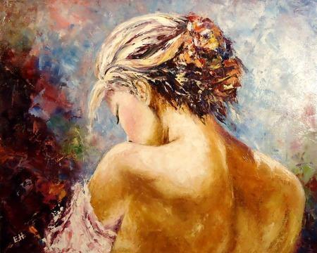 Картина маслом Нежность ручной работы на заказ
