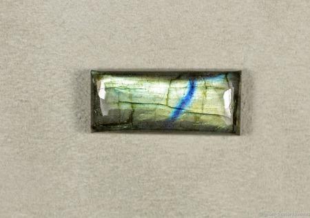 """Лабрадор """"Голубая река"""", кабошон прямоугольный ручной работы на заказ"""