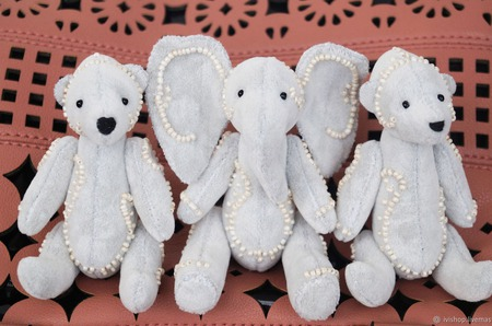 Карманный слоник Тедди ручной работы на заказ