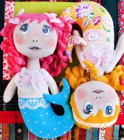 Текстильные русалки - украшение на елку или для Новогоднего декора! ручной работы на заказ