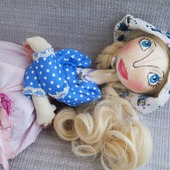 Текстильная каркасная кукла Климентина.