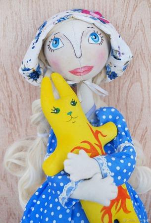 Текстильная каркасная кукла Климентина. ручной работы на заказ