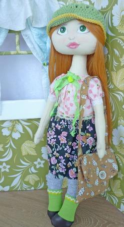 Текстильная кукла Мэри со съемным пиджачком. ручной работы на заказ