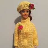 Курточка,берет и юбка для Барби.