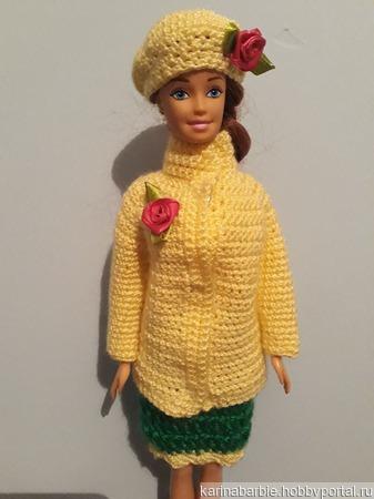 Курточка,берет и юбка для Барби. ручной работы на заказ