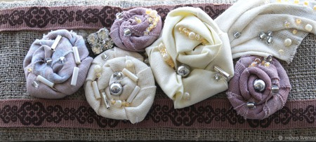Текстильный браслет в стиле бохо ручной работы на заказ