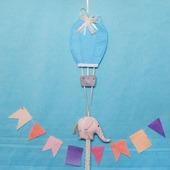 """Интерьерная подвеска """"Сердечко, слон,воздушный шар"""". На день Валентина"""