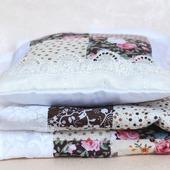 Кукольное одеяло. Коричневый комплект подушка и одеяло.