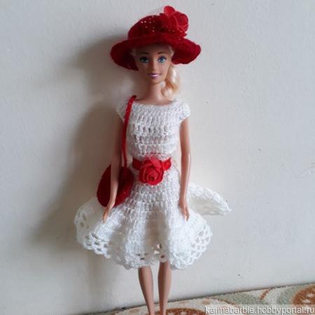 Белоснежное платье и шляпка ручной работы на заказ
