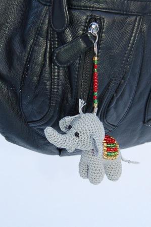Маленький Слоник. Брелок для сумки, ключей. ручной работы на заказ