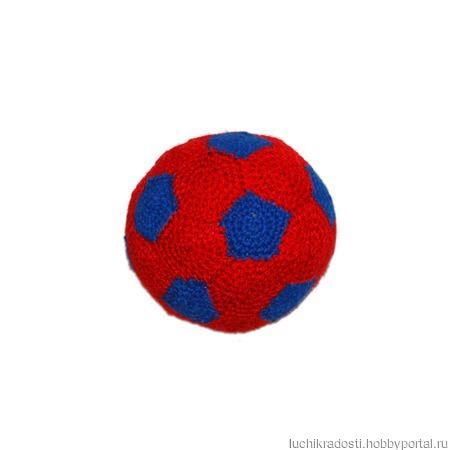 Вязаный футбольный мяч для детей. ручной работы на заказ