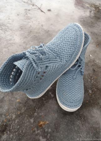 Вязаные женские ботинки. ручной работы на заказ