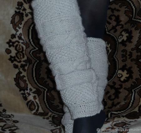Вязаные женские сапожки-трансформеры. ручной работы на заказ