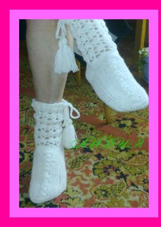 Вязаные женские носки ручной работы на заказ