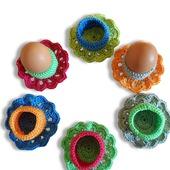 Вязаные подставки для яиц.