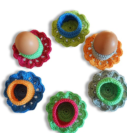 Вязаные подставки для яиц. ручной работы на заказ