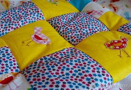 Подушка лоскутная детская ручной работы на заказ