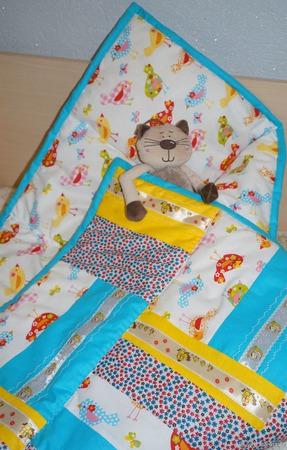 Лоскутное одеяло детское Мой птенчик ручной работы на заказ