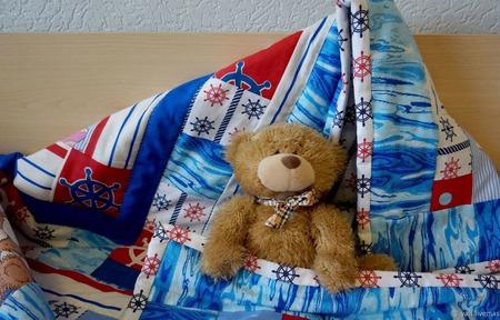Одеяло лоскутное Спит отважный капитан ручной работы на заказ