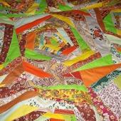 Коврик лоскутный На ковре из желтых листьев