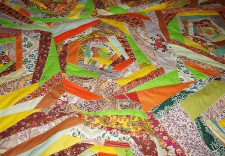 Коврик лоскутный На ковре из желтых листьев ручной работы на заказ