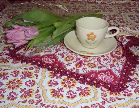 Скатерть + салфетки, столовый набор ручной работы на заказ