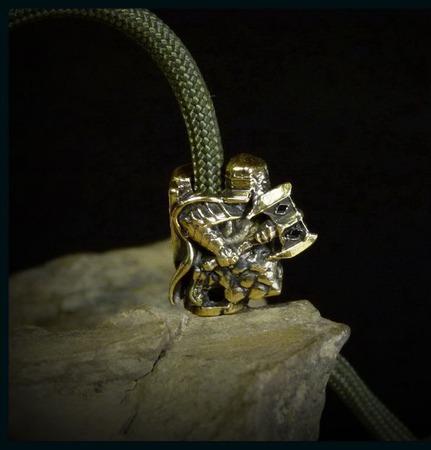 """Бусина """"Гном Эребора"""" для темляков или браслетов ручной работы на заказ"""