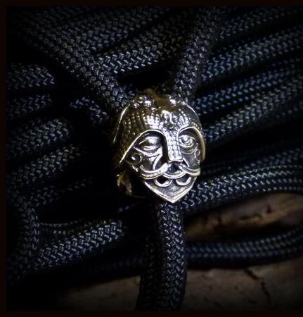 """Бусина """"Маска Одина"""" малая для темляков или браслетов ручной работы на заказ"""