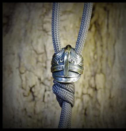 """Бусина """"Маска Одина"""" большая для темляков или браслетов ручной работы на заказ"""