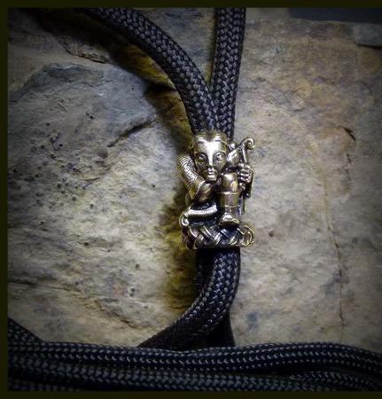 """Бусина """"Охотник"""" для темляков или браслетов ручной работы на заказ"""
