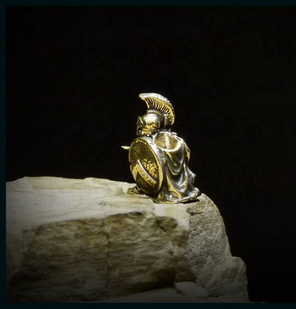 """Бусина """"Спартанец"""" для темляков или браслетов ручной работы на заказ"""