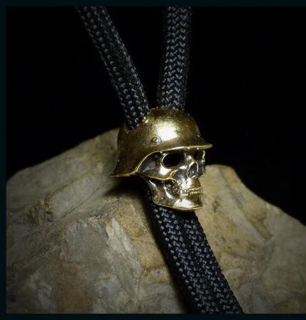 """Бусина """"Череп"""" для темляков или браслетов ручной работы на заказ"""