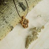 """""""Лепта"""" - деревянный нательный крест из кипариса"""