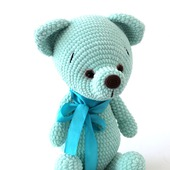 Мишка вязаный , вязаный медведь, плюшевый мишка/медвежонок.