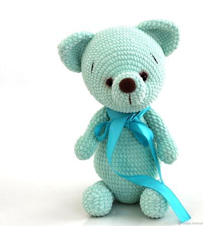 Мишка вязаный , вязаный медведь, плюшевый мишка/медвежонок. ручной работы на заказ