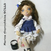 Кукла текстильная интерьерная авторская Варюшка