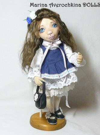 Кукла текстильная интерьерная авторская Варюшка ручной работы на заказ