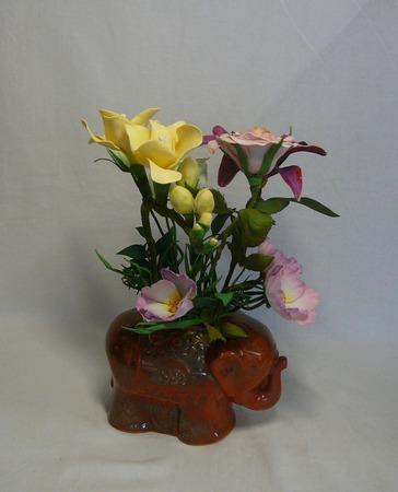 Интерьерная цветочная композиция из фоамирана ручной работы на заказ