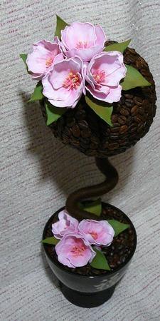 Топиарий или дерево счастья ручной работы на заказ