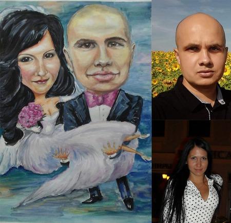 Портрет и шарж по фото на заказ ручной работы на заказ
