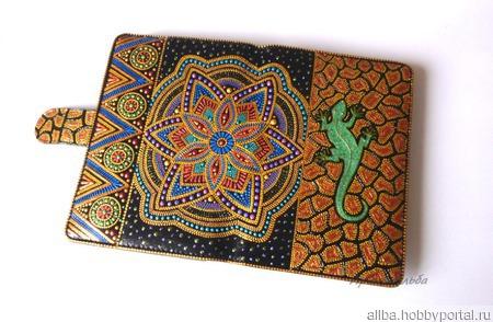 Чехол для планшета точечная роспись ручной работы на заказ
