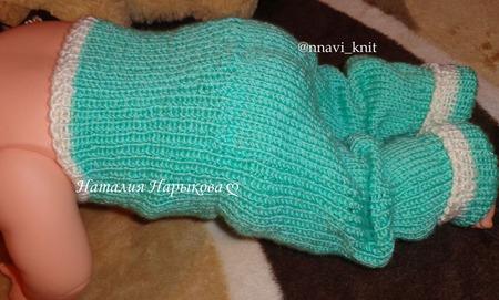 Штанишки теплые для новорожденных, вязанные ручной работы на заказ