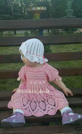 """Платье нарядное крючком """"Принцесса"""" ручной работы на заказ"""