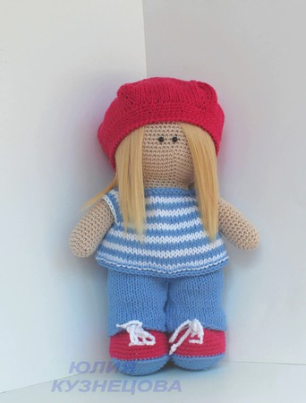 Кукла Алиса-художница. ручной работы на заказ