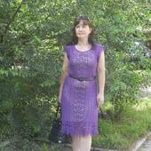 Платье из хлопка Сирень
