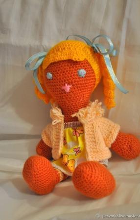 Вязанная куколка Марго ручной работы на заказ
