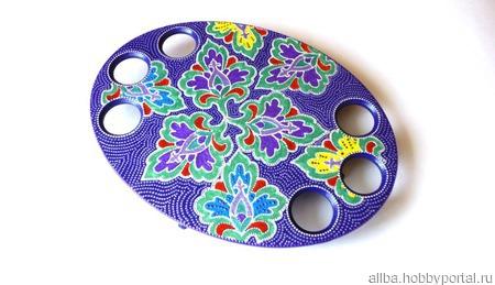 Пасхальная подставка точечная роспись цветочная ручной работы на заказ